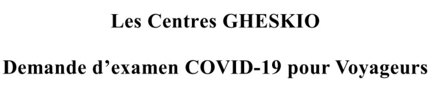 COVID Travel Form